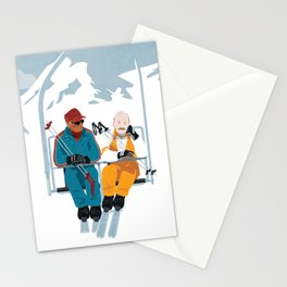 Les Bronzés font du ski - Fanart movie poster Stationery Cards