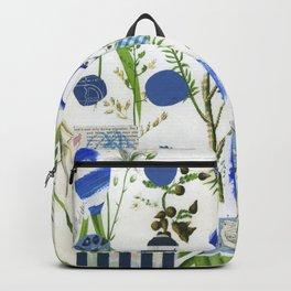Botanical Series: Blue Backpack