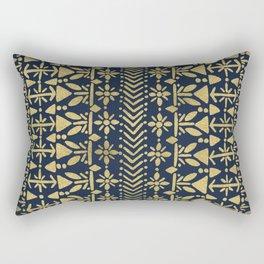 Norwegian Pattern – Gold on Navy Rectangular Pillow