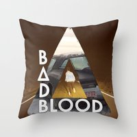 bastille Throw Pillows featuring Bastille #3 by Thafrayer
