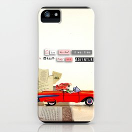 Red Riding Hood Hits the Road iPhone Case