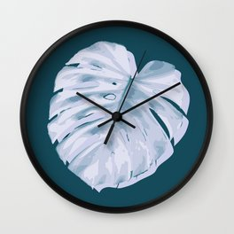 Monstera, Santa #2 Wall Clock