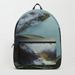 Hidden lake in Austrian Alps Backpack