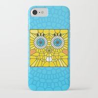 spongebob iPhone & iPod Cases featuring Spongebob Voronoi by Enrique Valles