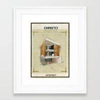 babina Framed Art Prints featuring Christo+Shigeru Ban by federico babina