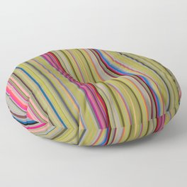 Colorful Stripes Barcode 1 Floor Pillow