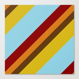 Retro stripes Canvas Print