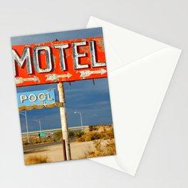 Vintage Motel Road Sign Stationery Cards