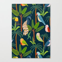 Jungle Birds Canvas Print