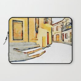View street in the historic center of Tortora Laptop Sleeve