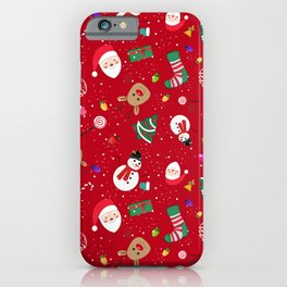 Happy New Year Theme Pattern iPhone Case
