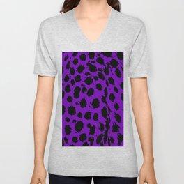 Cheetah Purple Unisex V-Neck
