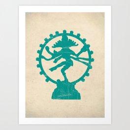 Dancing Shiva Art Print Art Print