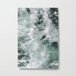 Silky Waves Metal Print