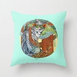Masked Lynx Throw Pillow