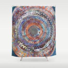 LA TURBINA MANDALA ART Shower Curtain