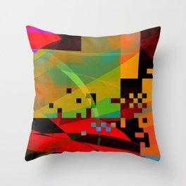 slant organic Throw Pillow