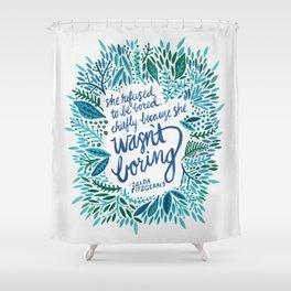 Zelda Fitzgerald – Blue on White Shower Curtain