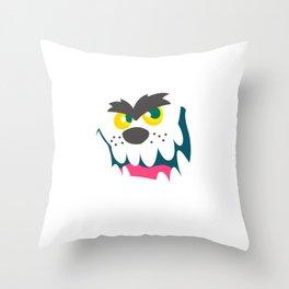 Smiling Werewolf Halloween Gift Idea Throw Pillow