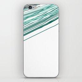 Green & Grey stripe iPhone Skin