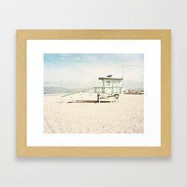 Venice Beach Tower Framed Art Print