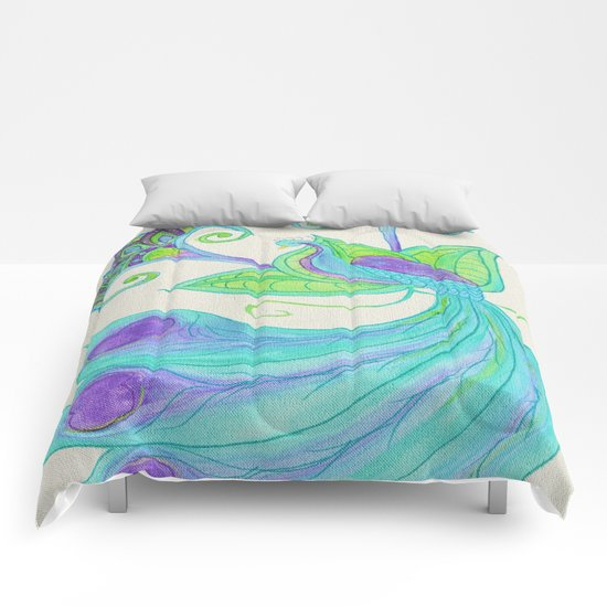 Peacocks & Paisley (2) Comforters