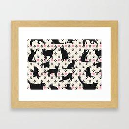 Mischievous Cats Framed Art Print