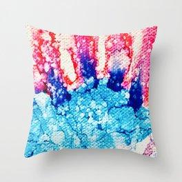 Blue Blast! Throw Pillow