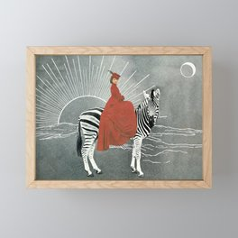 My zebra and I Framed Mini Art Print
