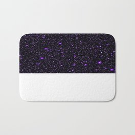 Purple Galaxy Space StarS Bath Mat