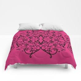 Pink Yarrow Filigree Comforters
