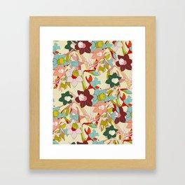 floral pattern vintage Framed Art Print