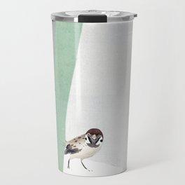 Bamboo in snow Travel Mug