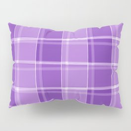 Chalk strokes of light and violet lines on a calm background. Pillow Sham