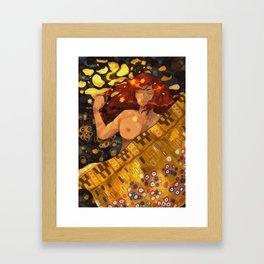 Golden Love Framed Art Print