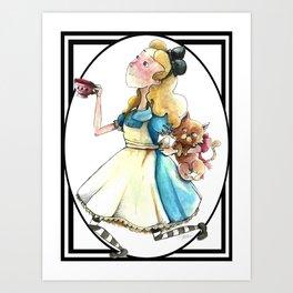 Alice & Dina (Bordered Variant) Art Print