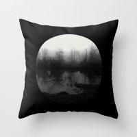 lunar Throw Pillows featuring lunar by Megan Cash