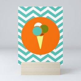 Ice Cream Cone - Cute Summer Accessories Collection Mini Art Print