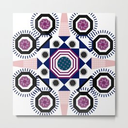 Mixed Emotions Mandala Metal Print
