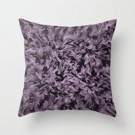 Black Fire Throw Pillow