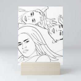 Sisters #sketch #drawing Mini Art Print