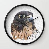 falcon Wall Clocks featuring Falcon by Kozza
