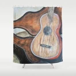 guitar in case Shower Curtain