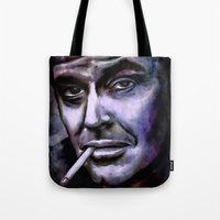 jack nicholson Tote Bags featuring Jack Nicholson by andy551