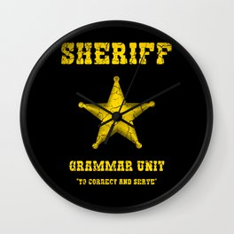 sheriff grammar unit Wall Clock