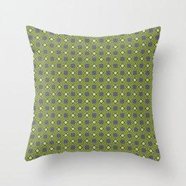 Digital Circuits Geometric Seamless Pattern Throw Pillow
