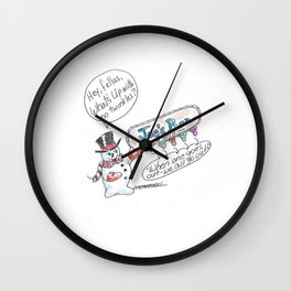 Going Out at Christmas Wall Clock