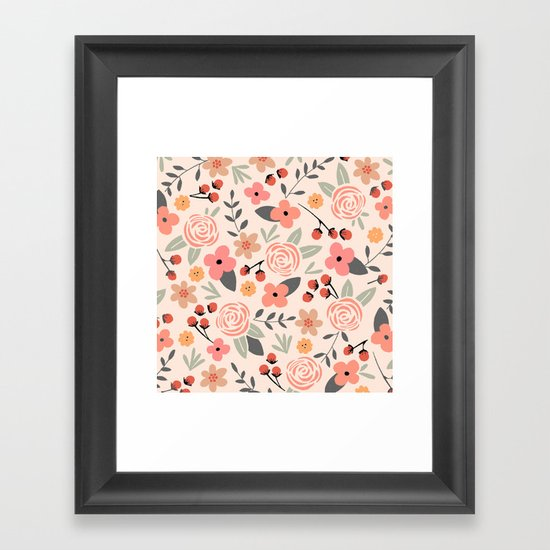 FLOWER FEST Framed Art Print