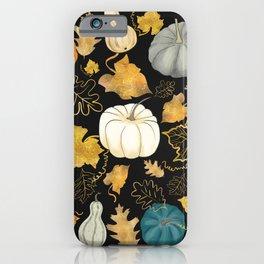 Harvest of the Golden Season - Halloween Pumpkins iPhone Case