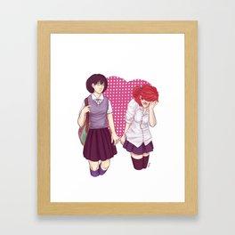 Public Demonstration of Affection Framed Art Print
